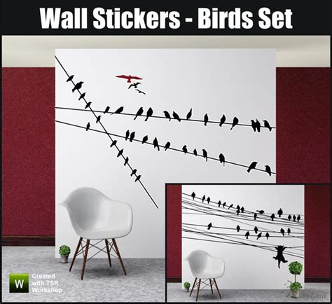 feature wall stickers gosik s wall stickers birds