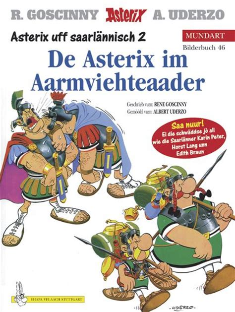 asterix omnibus 2 includes asterix the gladiator 4 asterix and the banquet 5 asterix and cleopatra 6 asterix im aarmviehteaader mundart 46 saarl 228 nnisch ii