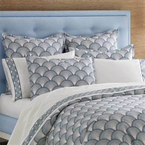 jonathan adler bedding fishscales navy duvet cover or set