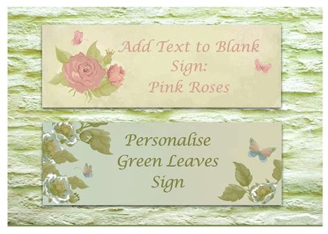 vintage custom  door sign personalised blank shabby chic floral house plaque ebay