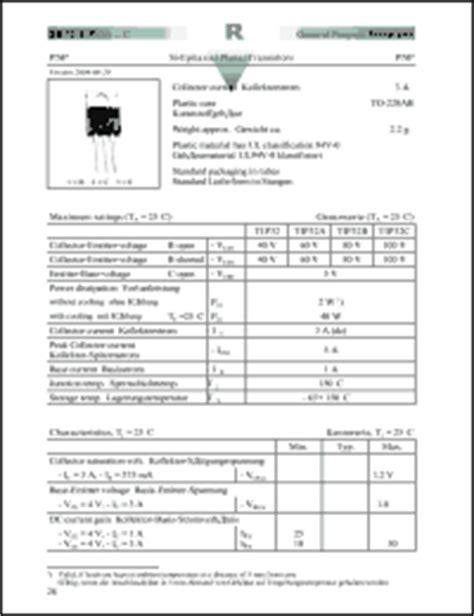 transistor tip32c datasheet transistor tip32c datasheet 28 images diotec elektronische tip32 series datasheets tip32c