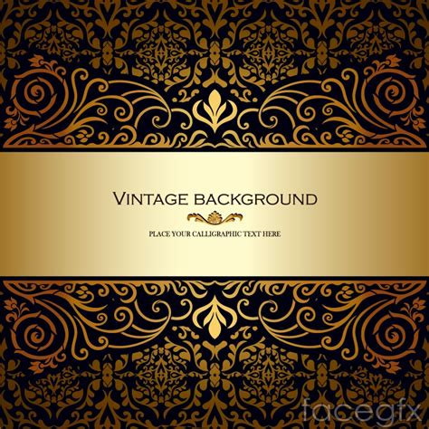 gold pattern background vector classical ornate gold pattern vector background over
