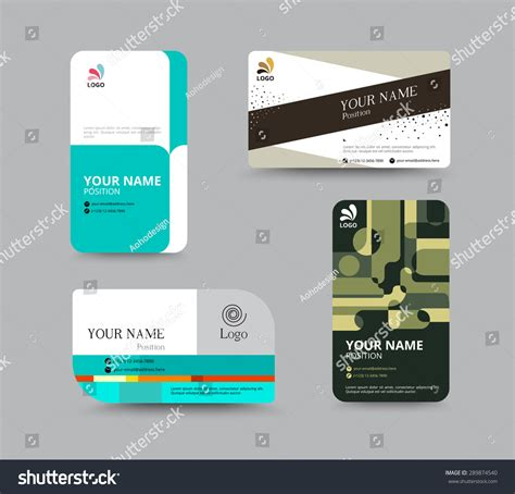 Business Card Template Business Card Layout Design Vector Illustration 289874540 Shutterstock Card Design Template