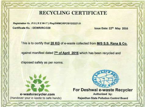 certificate of recycling template certificate of recycling template 28 images arguss s r