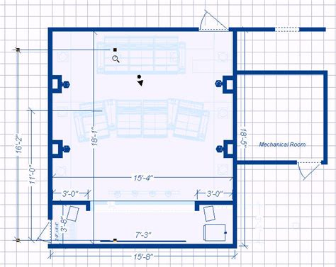 home theater room floor plan