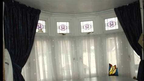 how to fit curtains to window baywindow tracks poles designercurtainscollection at www