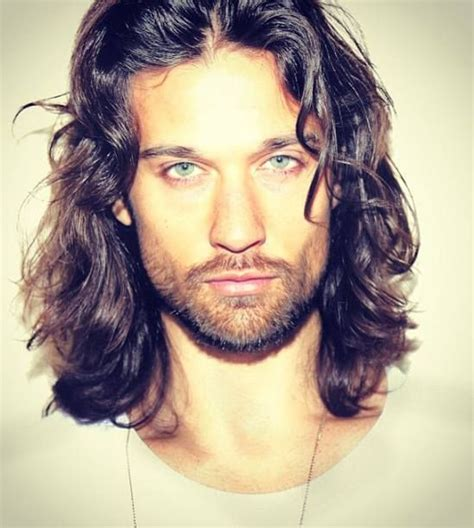 Hot men long hair christmas