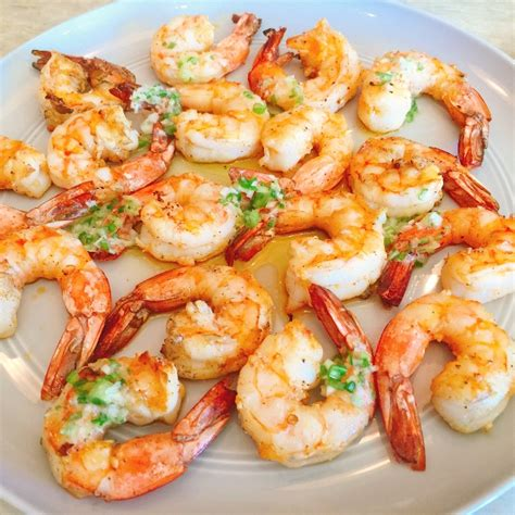 recipe shrimp and scallion skewers with creamy grilled pepper sauce grilled garlic shrimp with scallion butter recipe