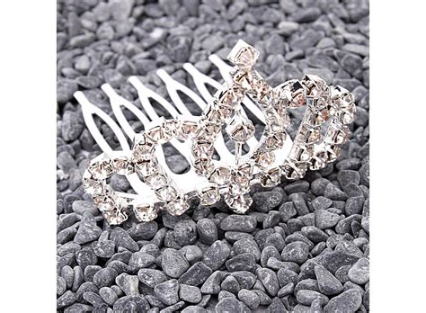 Rhinestone Crown Hair Clip rhinestone crown comb hair clip tiara hk s01558 buy at