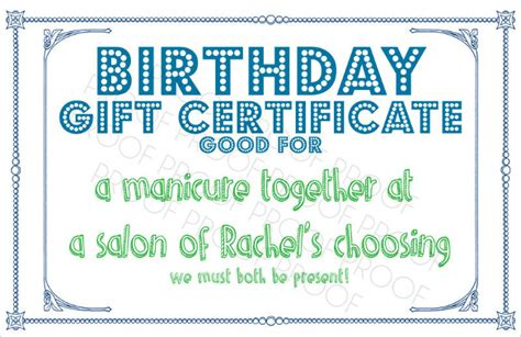 birthday coupon templates printable 10 sle birthday gift certificate templates sle