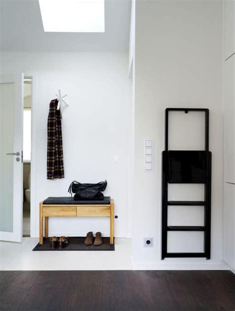 tread black bench hallway wood minimalist interior design ideas ofdesign