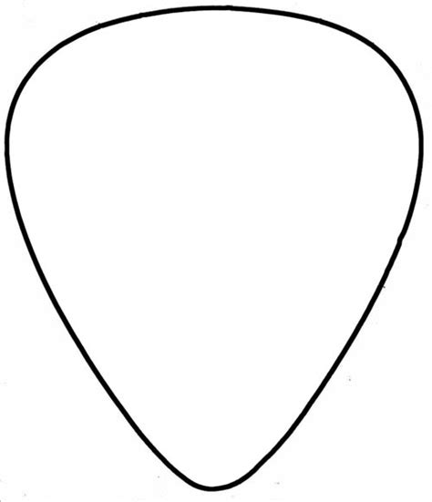 pin guitar pick template actual size image search results