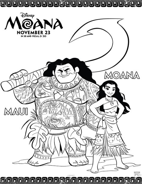 free printables disney moana coloring pages comic con