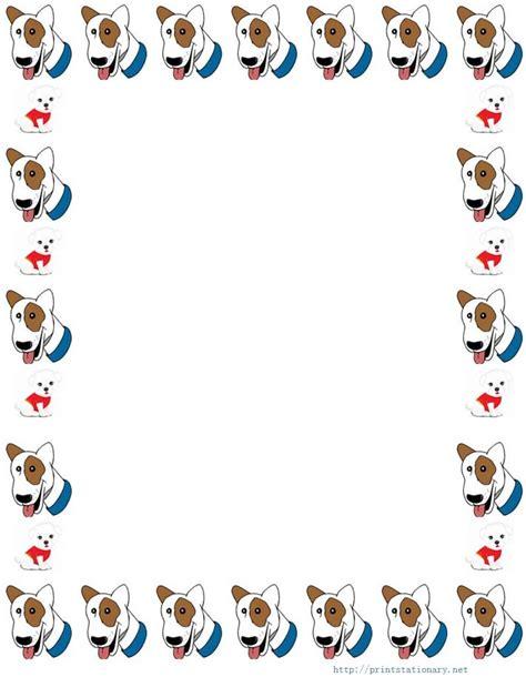 printable dog stationery free printable border paper stationery 199 er 231 eve