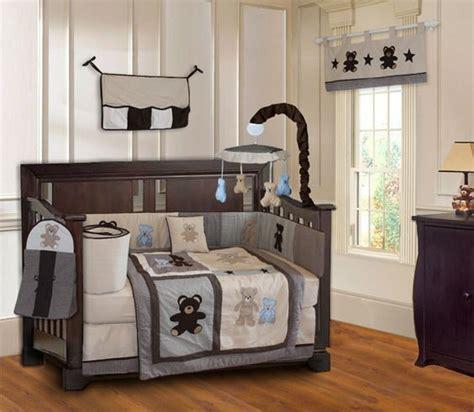 Teddy Crib Sets by Teddy Crib Bedding Set Nursery Infant Musical Mobile