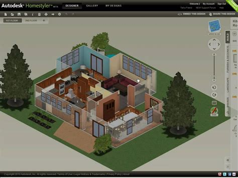 Home Design Autodesk by Autodesk Homestyler Share Your Design 2010 Youtube