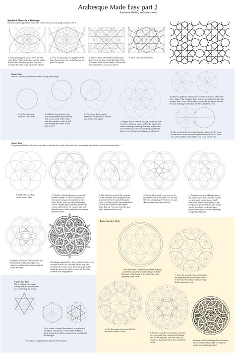 arabesque pattern dwg arabesque made easy sacred geometry pinterest