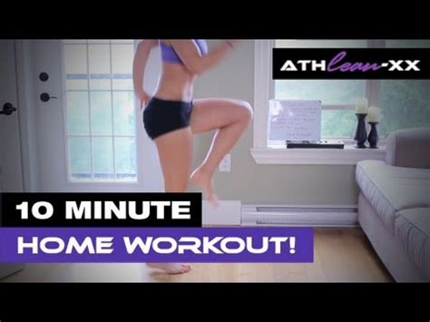 10 minute home workout for no equipment needed