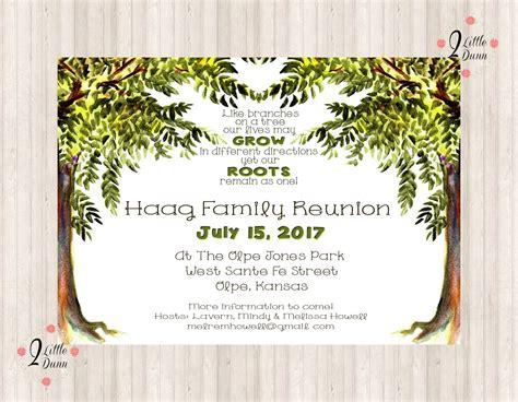 Family Reunion Invite Trees Printable Digital Invitation Family Reunion Invitation Templates Free