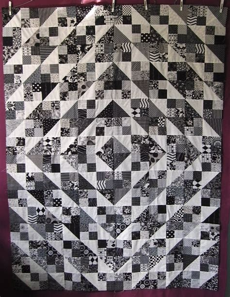 Black Quilt by Quilt Without Guilt Black And White Quilts