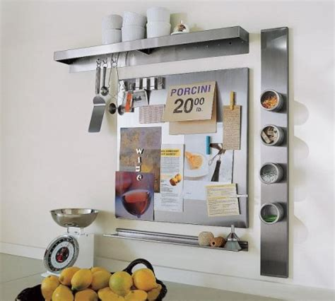 Bulletin Board Kitchen by Using Wall Mount Magnetic Boards To Store And Show Small