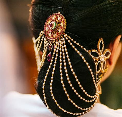 Hairstyles Accessories Bun by Indian Hair Bun Jewelry Www Pixshark Images