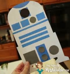 star wars r2 d2 robot paper craft printable tip junkie