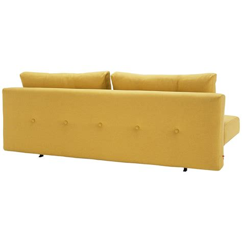 yellow sleeper sofa recast sleeper sofa in soft mustard eurway modern