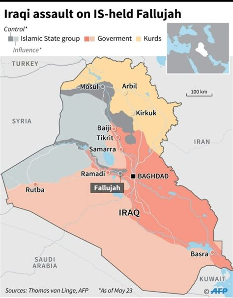map of iraq fallujah iraq forces poised for fallujah assault daily mail
