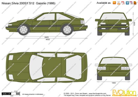 nissan silvia drawing the blueprints com vector drawing nissan silvia 200sx
