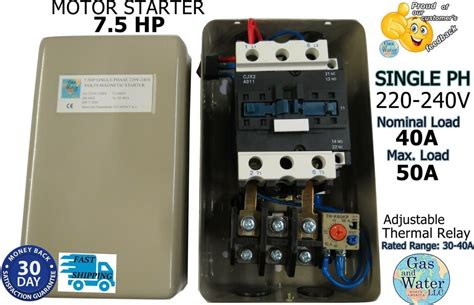 magnetic hp electric motor starter single phase    onoff switch  ebay