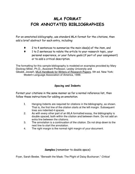 annotated bibliography mla template best photos of mla format annotated bibliography template
