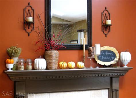 autumn mantel and exterior seasonal decor burger