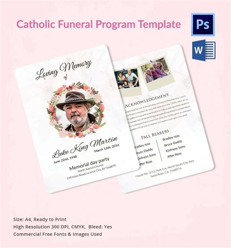 catholic funeral program online service that offers