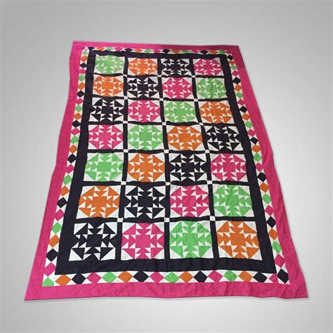 Handmade Bedsheets - buy multi color single bed charpai chadder handmade
