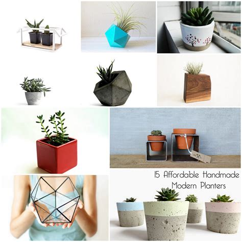 Cheap Modern Planters by 15 Affordable Handmade Modern Planters For Green Thumbers