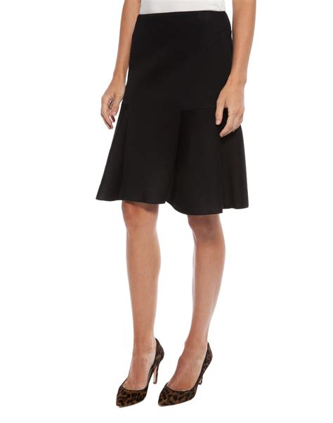 knit jersey skirt black flared jersey knit skirt d exterior halsbrook