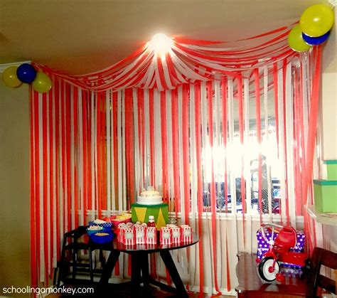 circus theme decor carnival ideas circus ideas at birthday in a box