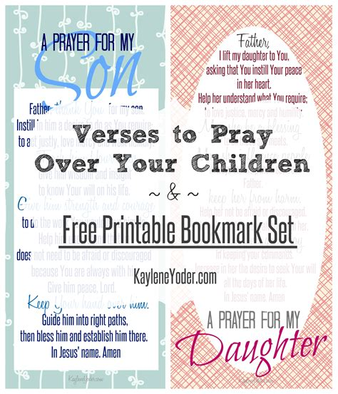 printable children s prayers verses to pray over your children and free printable