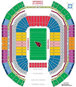 University Of Phoenix Stadium Map by See A Seat Map For Uop Stadium In Glendale Az
