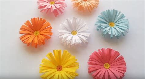 paper daisy flower tutorial simple paper daisy flowers tutorial craftsonfire