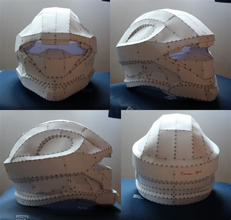 Halo Helmet Papercraft - halo 3 recon pepakura helmet by xxlunexx on deviantart