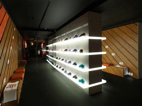 sports park shoe store nike fuelstation by nike boxpark 187 retail design