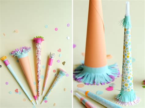 How To Make A Paper Trumpet That Plays - pretty paper horns diy