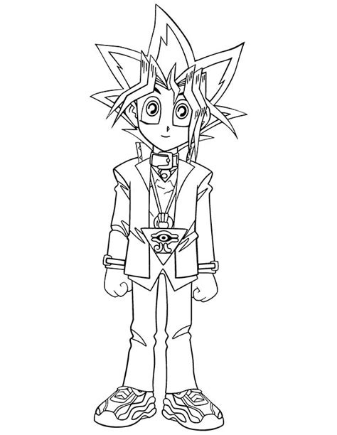 cute little yugi muto in yu gi oh coloring page netart