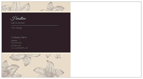 6x11 postcard template customize our wining and dining postcard design template