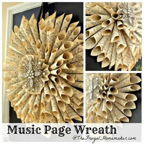 How To Make Handmade Sheet At Home - vintage book page wreath