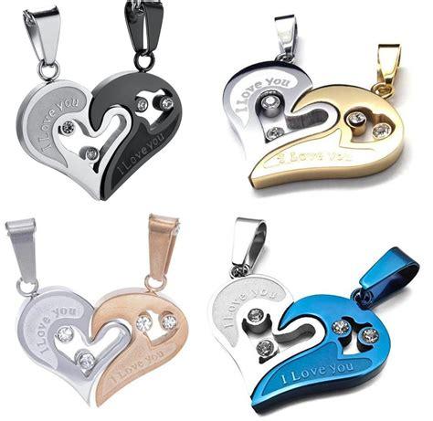 como hacer cadenas para parejas collares de acero inoxidable para parejas mayoreo y