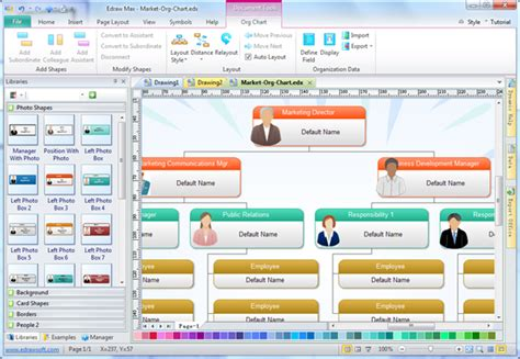 chart creation software staff organization chart exles software free