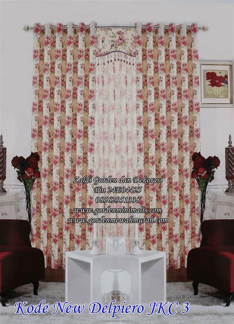 Gorden Balckout Minimalis Sahbyychik Pink jual kain motif shabby chic murah gorden motif shabby chic